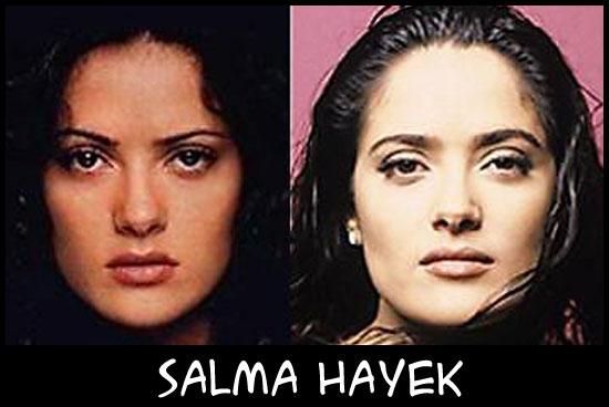 O poder da cirurgia plástica SalmaHayek